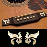 Inlay Sticker Decal For Acoustic Guitar Bridge Side In MOP Theme - Little Wings (WS) Set