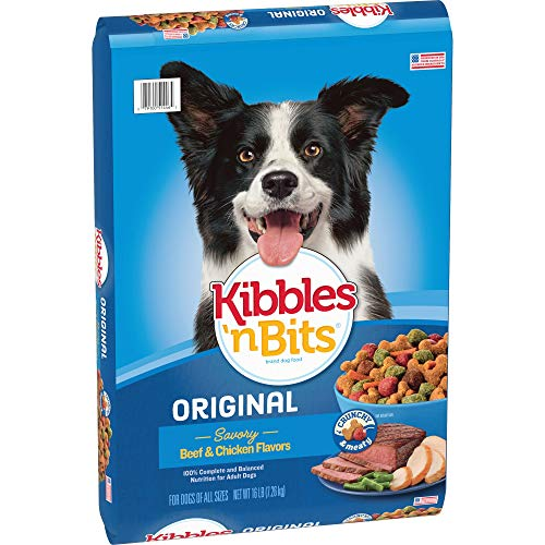 Dry Dog Beef Food Flavor - Kibbles 'N Bits Original Savory Beef & Chicken Flavors Dry Dog Food, 16-Pound