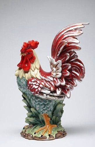Appletree Design A Day in the Country Rooster Figurine, 15-3/4-Inch ()