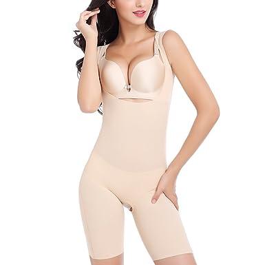 ffb3f89809be4 Fletion Women s Super Thin Breathable Shaping Full Slips Shapewear Seamless  Sleeveless Bodysuit Jumpsuit Elastic Curves Waist