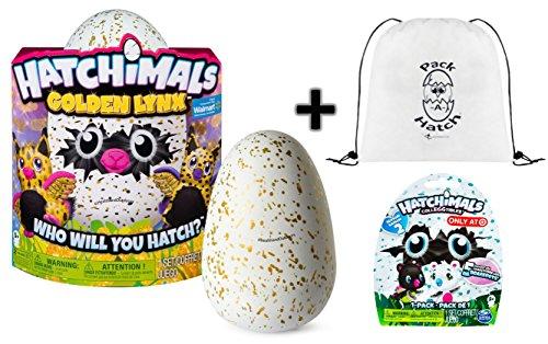 Hatchimals Golden Lynx With Bonus Pack A Hatch Backpack   Colleggtibles Blind Bag  Season 2    A Gold Egg Hatch Surprise