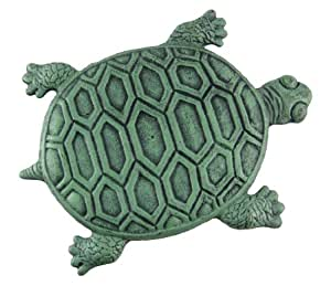 Iron Verdigris Garden Turtle Stepping Stone