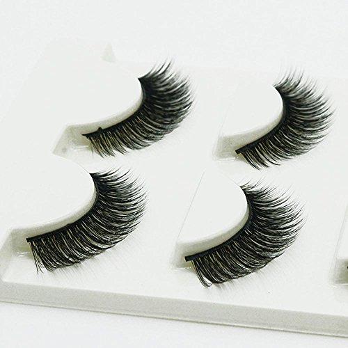 3 PCS Naturel incroyable 3D stéréo multicouche faux cils pur artisanal cils (3 paires) 3D-29