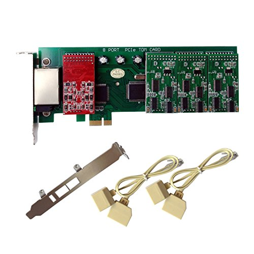 FXO FXS Card X800E with 2 FXO+6 FXS Ports,PCI-E,with 2U Profile,For (2 Fxo Port Card)