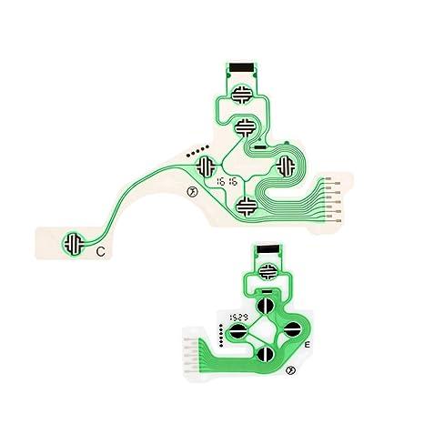 Amazon.es: genšŠrico Sharplace Reparación de Teclado de Película Conductora Para Ps4 Playstation 4 Controller Dualshock 4 Herramientas