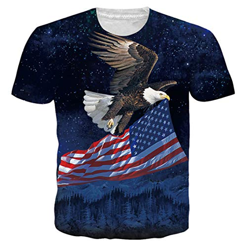 4th Of July Tees - Belovecol Unisex 4th of July USA Flag Patriotic T Shirts Summer Novelty Casual Running Short Sleeve Tee Tops XL