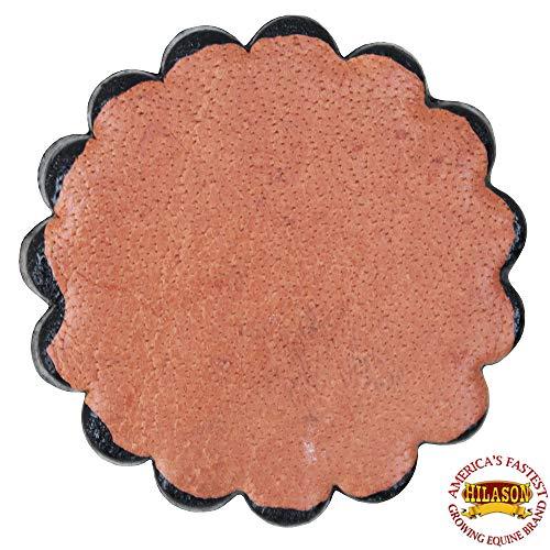 HILASON Set of 06 Plain Scalloped Leather Rosette Concho Saddle TACK TAN 1-3/4