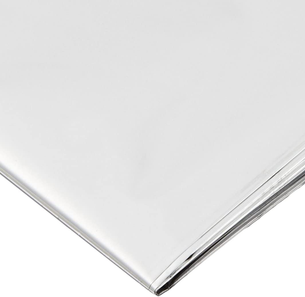 Primacare CB-9831-CS Foil Mylar Insulation Blanket – Emergency Rescue Heat Preservation Blanket – Waterproof, Weatherproof, 82x62Inch (12 Pack)