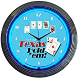 Neonetics Poker Texas Hold 'Em Neon Wall Clock, 15-Inch