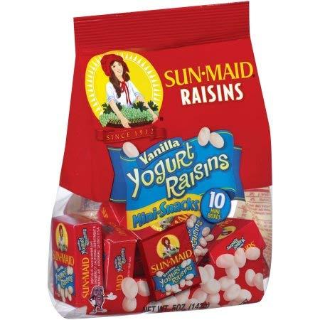 - Vanilla Yogurt Raisins Mini-snacks (Pack of 2)