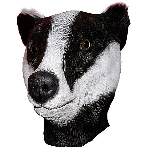 Realistic Wildlife Jungle Badger Mask Latex Animal Squirrel Mask Black Deluxe Skunk Overhead Halloween Party Costume Dress Up -