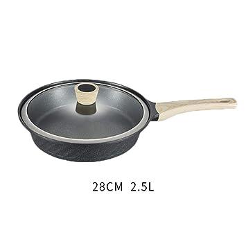 LLW-Frying Pans Sartenes para Freír Sartenes para El Hogar Olla De Huevo Frito Antiadherente Bistec Filete Sartén Cocina Estufa De Gas para La Olla De ...