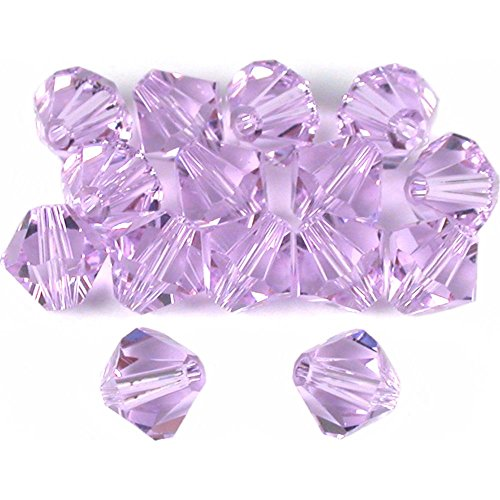 15 Violet Bicone Swarovski Crystal Beads Parts 5301 6mm