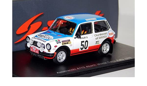 Amazon.com: 1976 Autobianchi A112 Abarth Monte Carlo Rally in 1:43 scale by Spark: Toys & Games