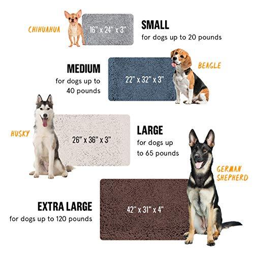 BarkBox X-Large Jumbo Gray Plush Orthopedic Memory Foam Dog Bed or Crate Mat | Removable Washable Cover - Free Surprise! by BarkBox (Image #1)