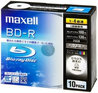 MAXELL Blue-ray BD-R Disk | 25GB 4x Speed 10 Pack: Amazon.es ...