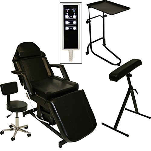 LCL Beauty Tattoo Package Electric Table Chair Arm Bar Bed Tray Studio Salon Spa Equipment