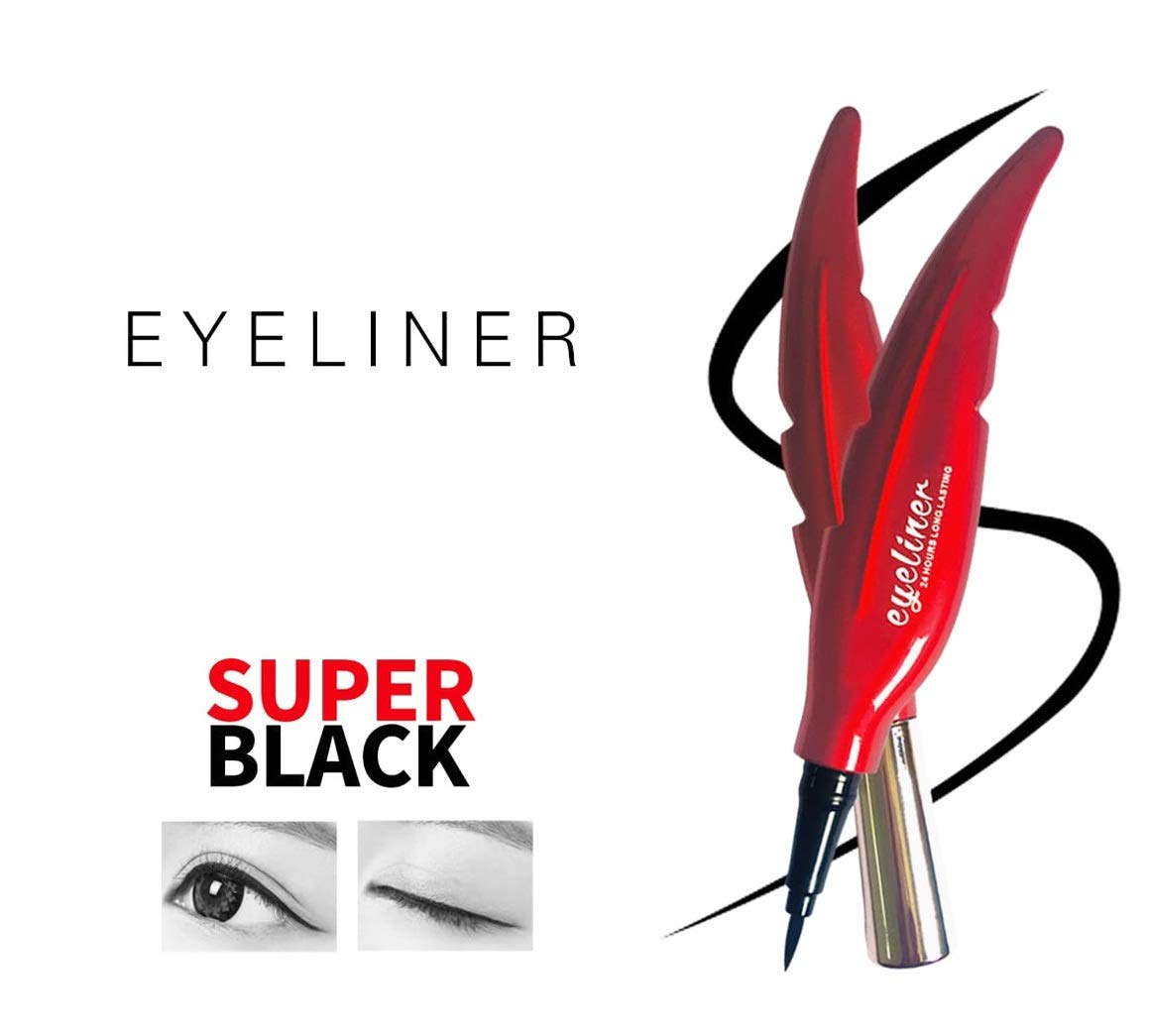 AYA Waterproof 24 Hours Long Lasting Feather Eyeliner (Black Color) product image