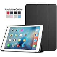 Ultra Slim Lightweight Smart-Shell Stand Case Cover with Translucent Frosted Back Protector for iPad Air 2 / 9,7 Inch with Magnetic Auto Wake & Sleep Black MMOBIEL