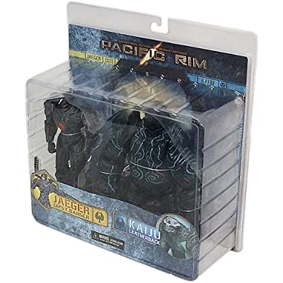"Pacific Rim Battle Damaged Gipsy Danger & Leatherback 7"" Action Figure 2-Packs: Toys & Games"