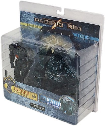 Pacific Rim Pack Damaged Gipsy Danger y Leatherback 2, figuras de 18 cm (Neca