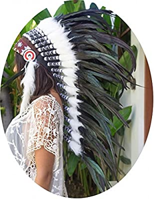 Feather Headdress | CHOOSE COLOR | Long | Native American Indian Style