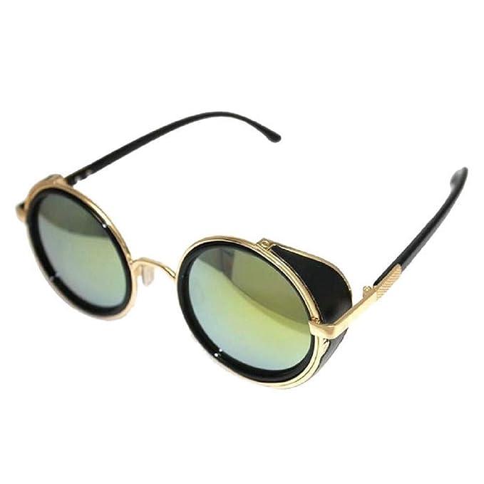 Worsworthy Gafas de Sol de Espejo Gafas de Sol Redondas ...