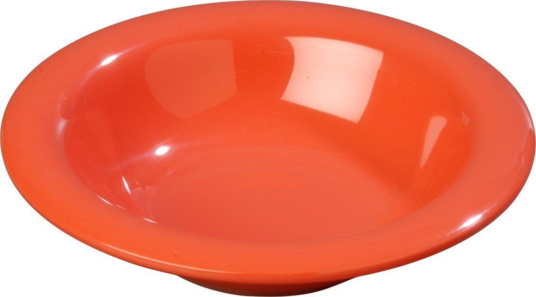 Carlisle 3304052 Sierrus Melamine Rimmed Bowls, 6-oz., Sunset Orange (Set of 48)