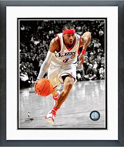 アレンアイバーソンフィラデルフィア76ers NBAスポットライトアクション写真(サイズ: 12.5 CM x 15.5 CM )フレーム   B00O09UQLK