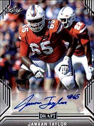 brand new 1126d 0aadd Amazon.com: 2019 Leaf Draft Autograph #BA-JT2 Jawaan Taylor ...