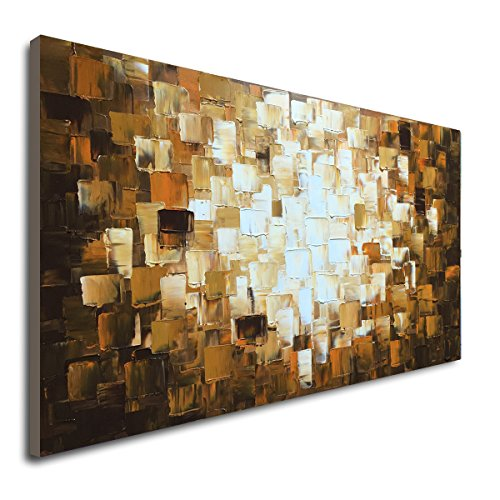 (Seekland Textured Abstract Oil Paintings on Canvas Modern Art Decor Wall )