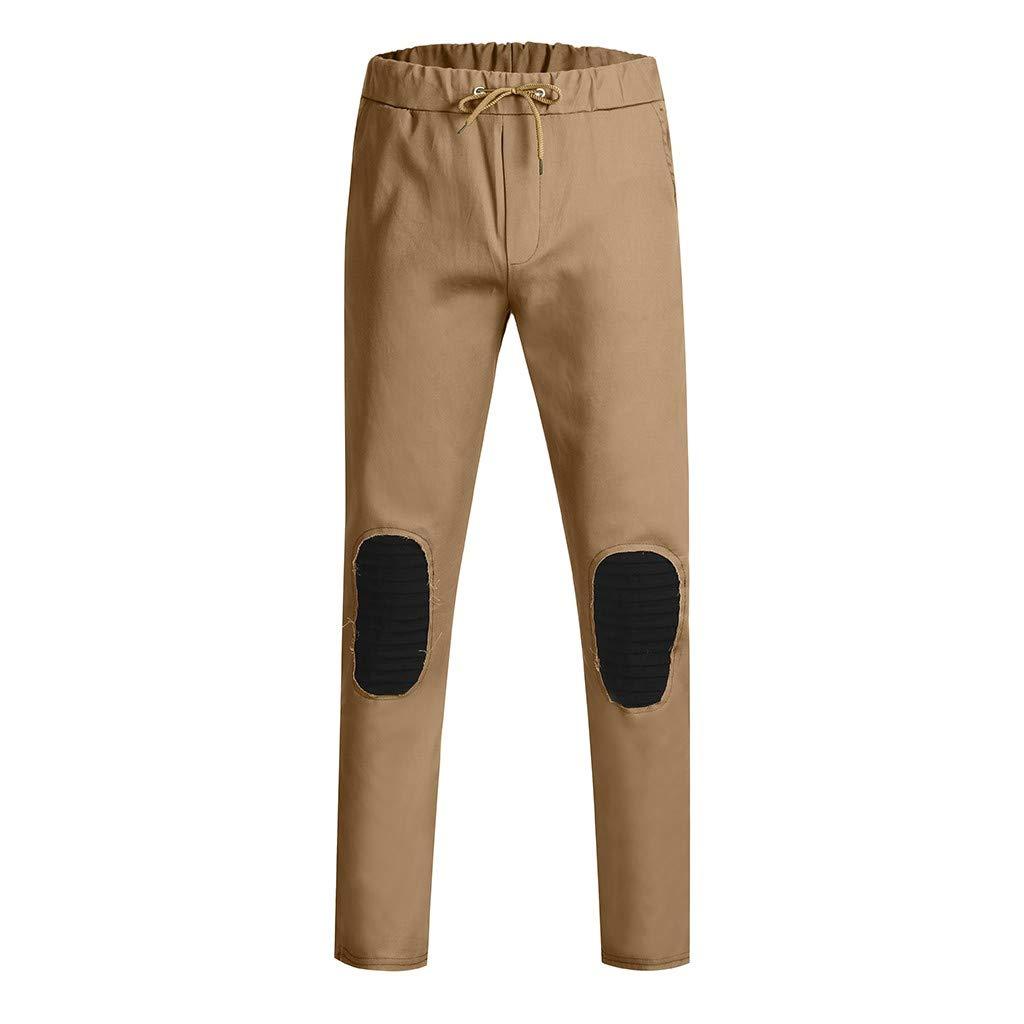 MNRIUOCII M/äNner Jogging Pants Mit Kordelzug Knie-N/äHhose Athletic L/äSsig Trainingshose Fur Outdoor-Training M/äNnerhosen Elastische Tactical Hose Cargo Pants Sweat Pants