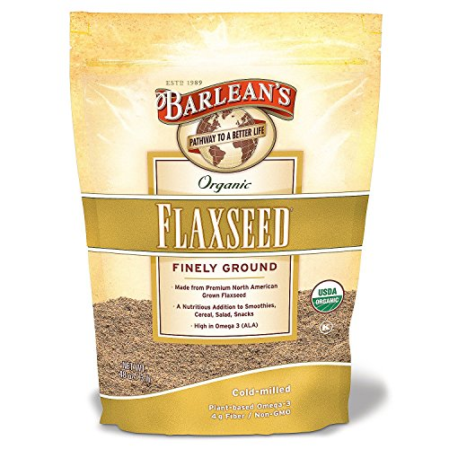 Barleans Organic Flaxseed Supplement Finely Ground Value 2 Pack (48 oz Each) by Barlean's Organic Oils
