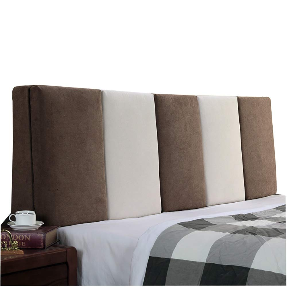 B No headboard-200cm LXLIGHTS Headboard Bedside Cushion Upholstered Backrest Waist Pad Bed Wedge Sofa Pillow Bay Window, 6 colors, 6 Sizes (color   C, Size   No headboard-190cm)