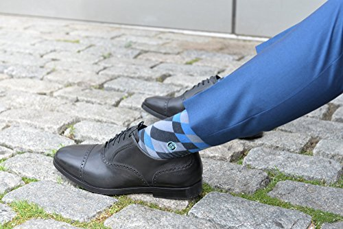TallOrder Big and Tall Men's Patterned Dress Socks (Sizes 9-11, 12-15, 16-20)