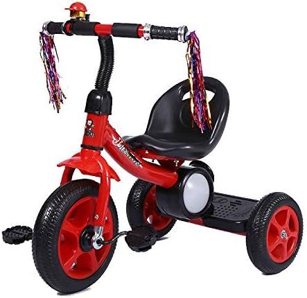 Triciclo para niños, bicicleta para bebés con música Pedal de luz Coche adecuado para bebés de 2 a 5 años,Red: Amazon.es: Hogar