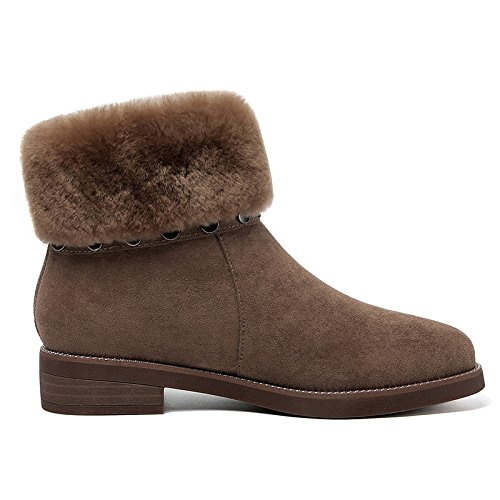 New Thirty Boots Winter Boots Thickening Plush Warm Snow Round Shoes seven Warm Round KHSKX Velvet xqOTIq