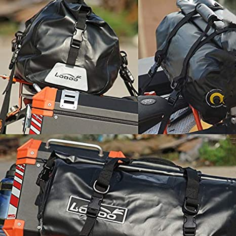 Multifunction Sports Bag for Gym Bagood Waterproof Bag 66L Motorcycle Dry Duffel Bag,Lightweight cycling hiking backpack Travels(Color:Black)