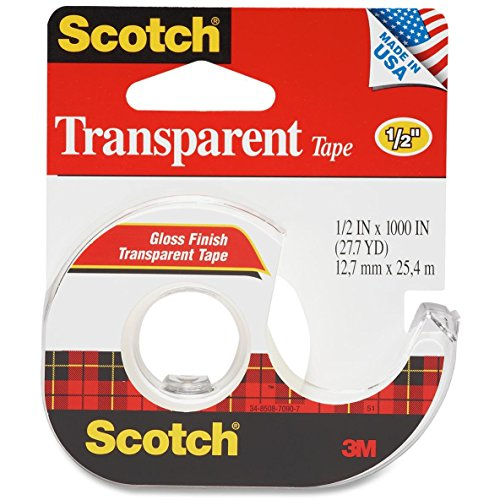 Non Yellowing Photo Safe Dispenser (174 Scotch Transparent Tape - 0.50