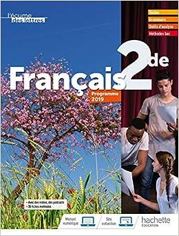Francais 2de L Ecume Des Lettres Livre De L Eleve