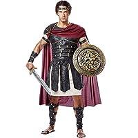 Disfraces de California Hombres Gladiador Romano Adulto, Negro /Borgoña, Grande