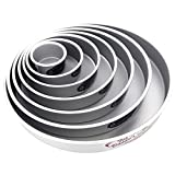 Cake Pan Set of 7, Round 2 Inches Even (4 to 16 Inches) by Fat Daddio's