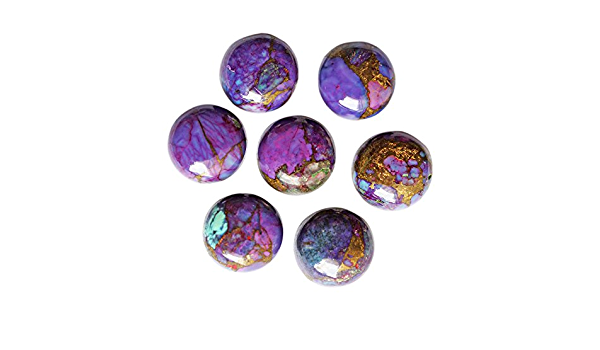 Natural Purple Copper Turquoise 7X7 mm Round Cabochon Loose Gemstone AB01