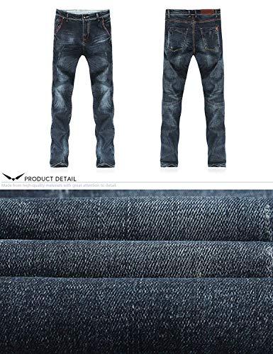 Ragazzi Vintage Casual Da Stretch Classiche Uomo Stile Jeans Denim Dritto Pantaloni Dh8310xblau Lunghi T 5Yf1Pwxq7