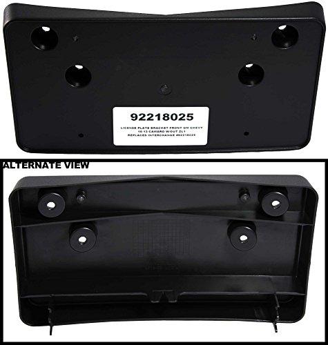 APDTY 92218025 License Plate Black Plastic Frame Holder Bracket For 2010-2013 Chevrolet Camaro (Except ZL1) (Chevrolet Camaro Black)