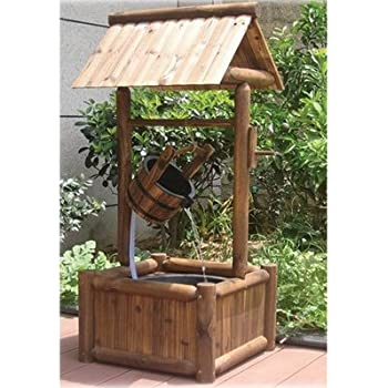 Amazon Com Stonegate Designs Wooden Wishing Well
