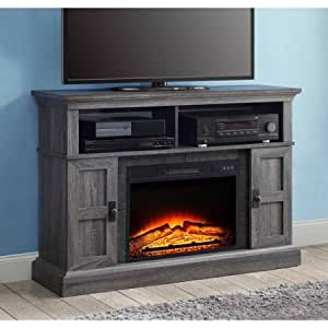 Whalen Fireplace Media Console For Tvs Up To 55 With Or Without Heat Gray Kitchen