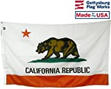 4×6′ State of California All Weather Nylon Outdoor Flag, Made in USA Review