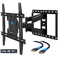Mounting Dream MD2296-M Full Motion TV Wall Mount Bracket with Dual Articulating Arms, 100 LBS Loading Capacity, Max 400 x 400mm VESA, Fits Most of 26-55 Inches LED, LCD and Plasma TV