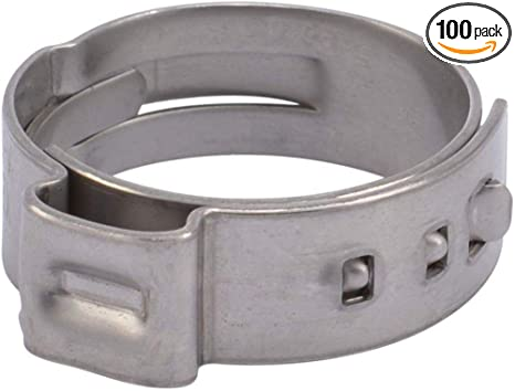 SharkBite UC955CP100 3//4 PEX Barb Clamp Ring 100-Pack